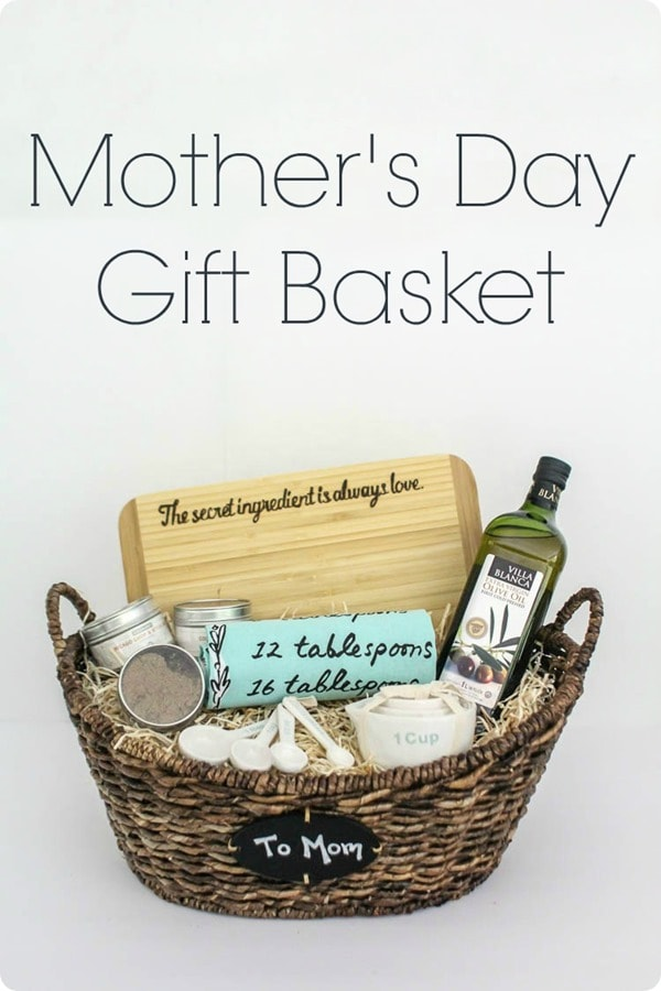 Mother's Day gift basket, perfect for the mom who loves to cook