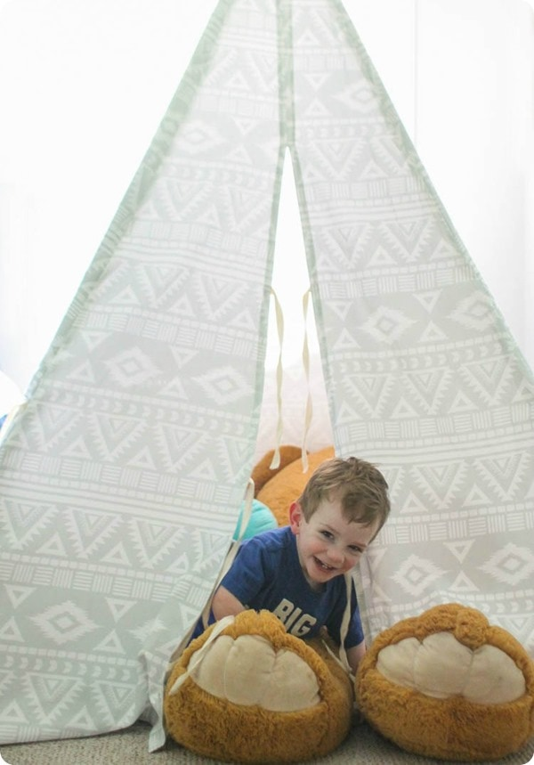 playing in minted custom teepee