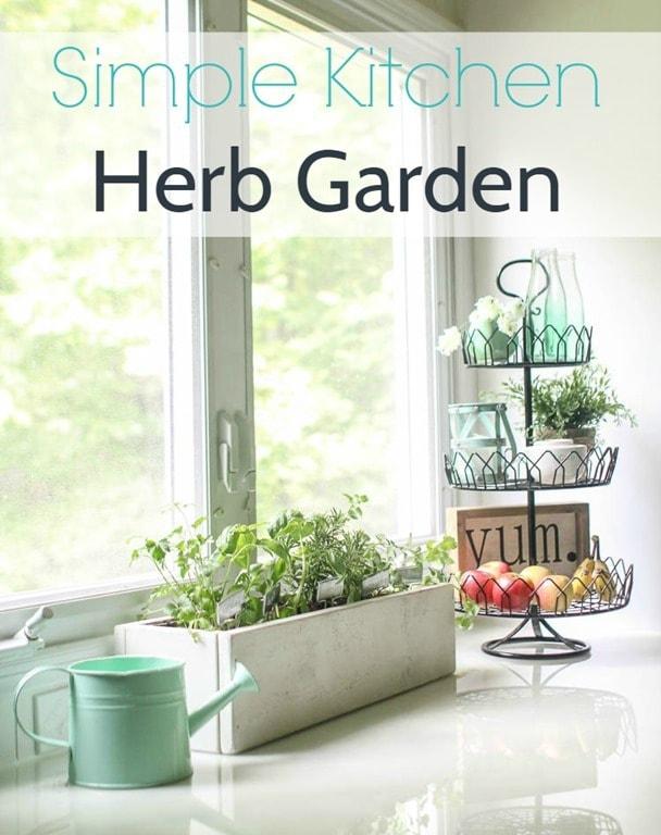 simple kitchen herb garden 3 - Simple Kitchen Herb Garden