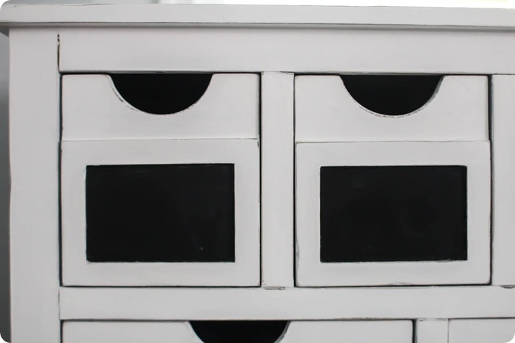 white furniture with distressing