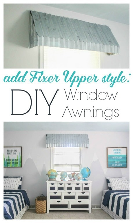 How To Make Gorgeous Farmhouse Window Awnings Lovely Etc