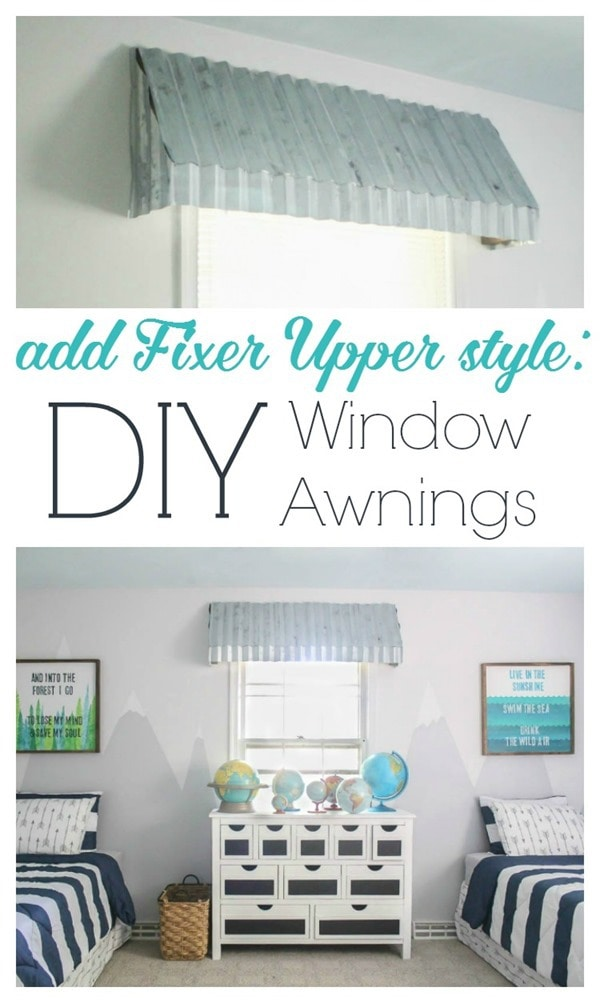 add fixer upper style with diy window awnings 2
