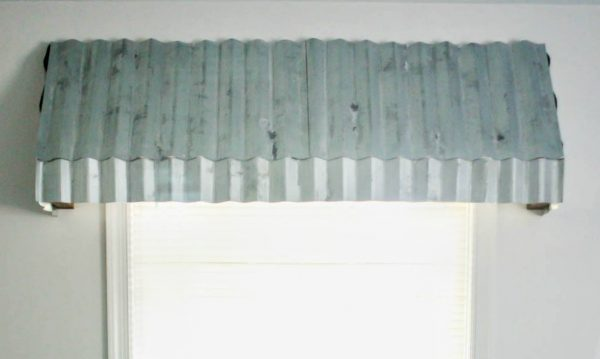 aged metal window awnings