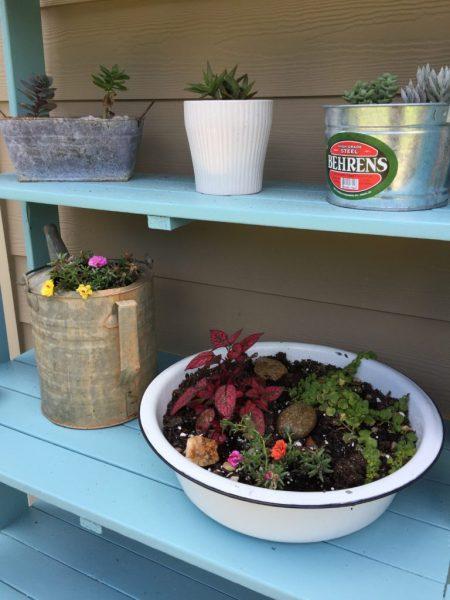 diy enamel ware planter