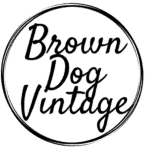 brown dog vintage