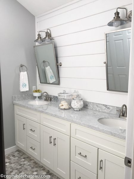 Centsible Chateau Farmhouse bathroom