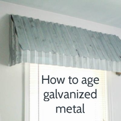 How to age galvanized metal: from shiny new to vintage perfection