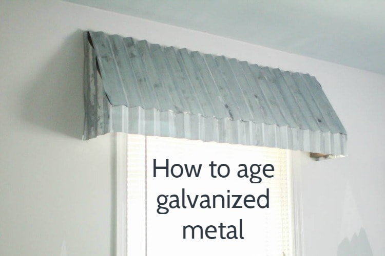 35224b3da678 How to age galvanized metal: from shiny new to vintage perfection ...