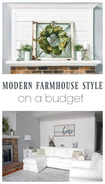 modern farmhouse style on a budget