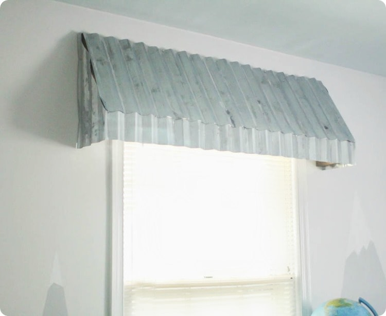rustic diy window awning