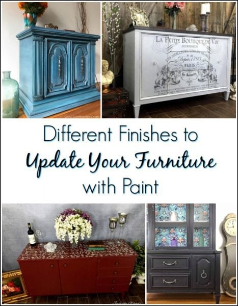 different finishes to update your furniture with paint
