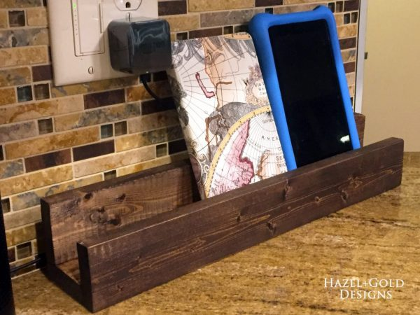 diy wooden book stand