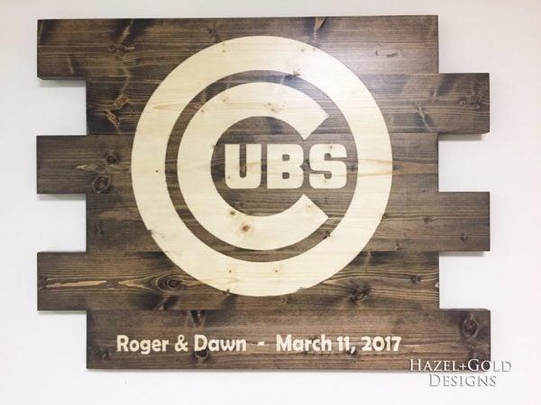 diy cubs sign