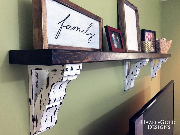 farmhouse corbel shelf