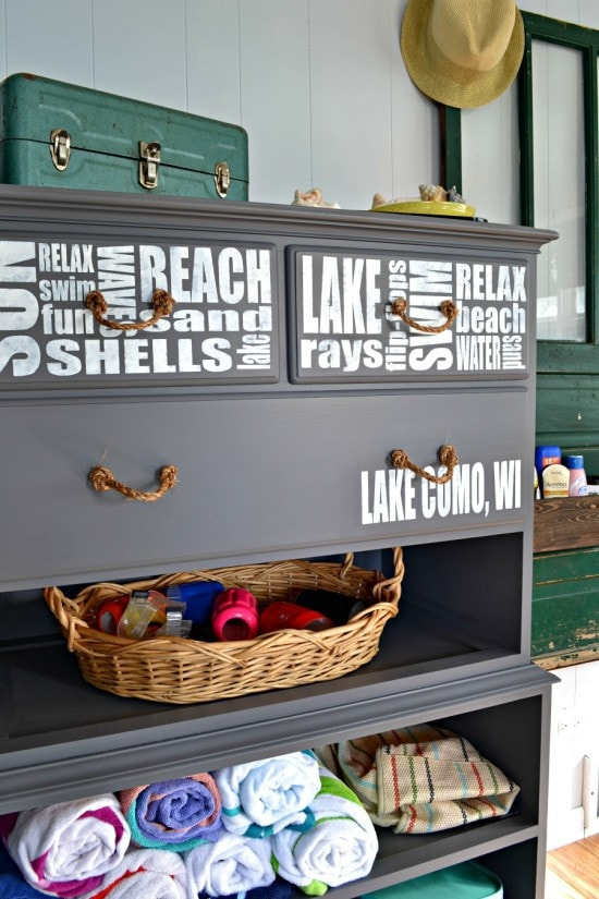 repurposed dresser without drawers