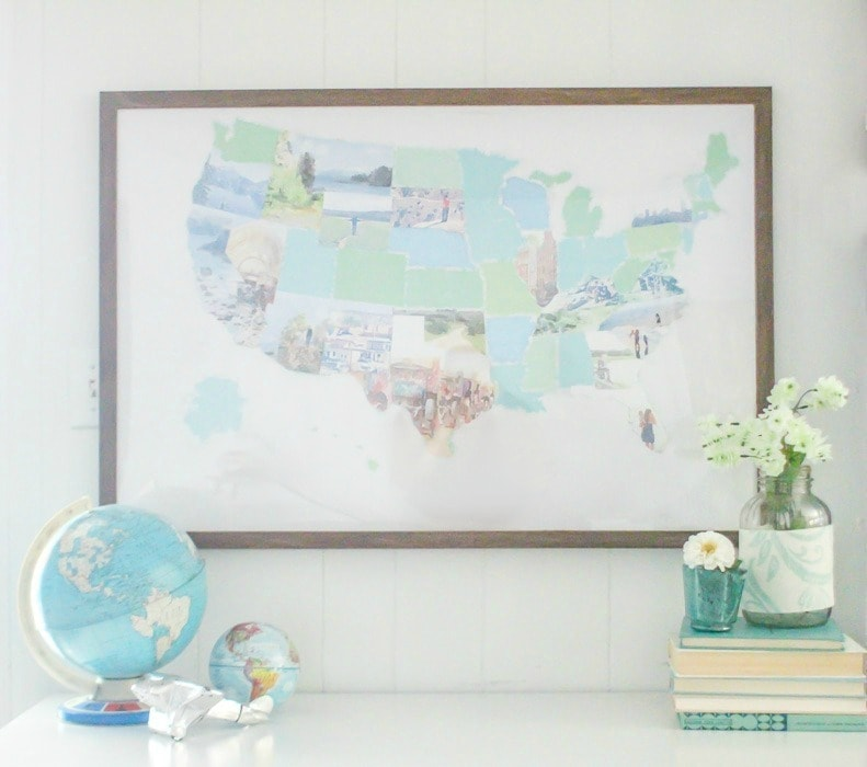 beautiful watercolor photo map make a personalized photo map from your own vacation photos