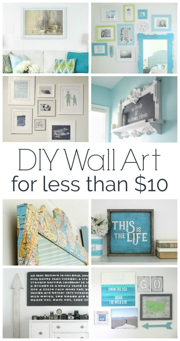 Cheap wall art ideas: DIY wall art you'll love that costs less than ten dollars
