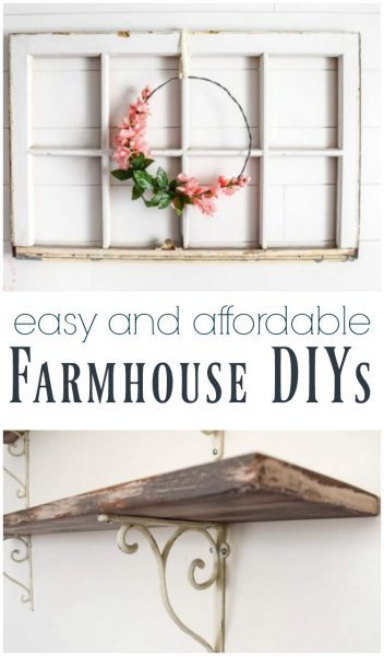 easy and affordable farmhouse diy projects