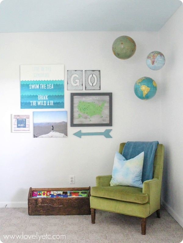 diy gallery wall for boys room
