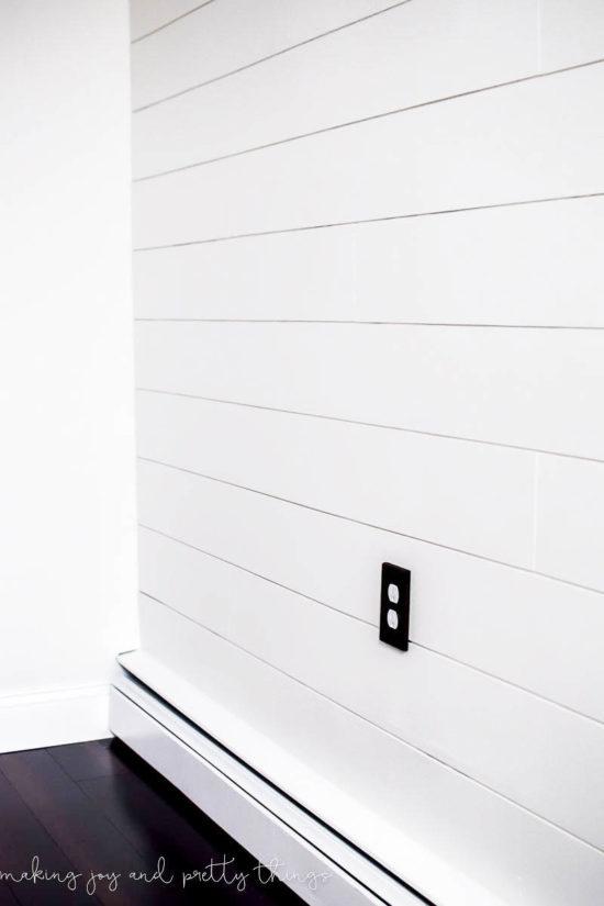 cheap plank wall