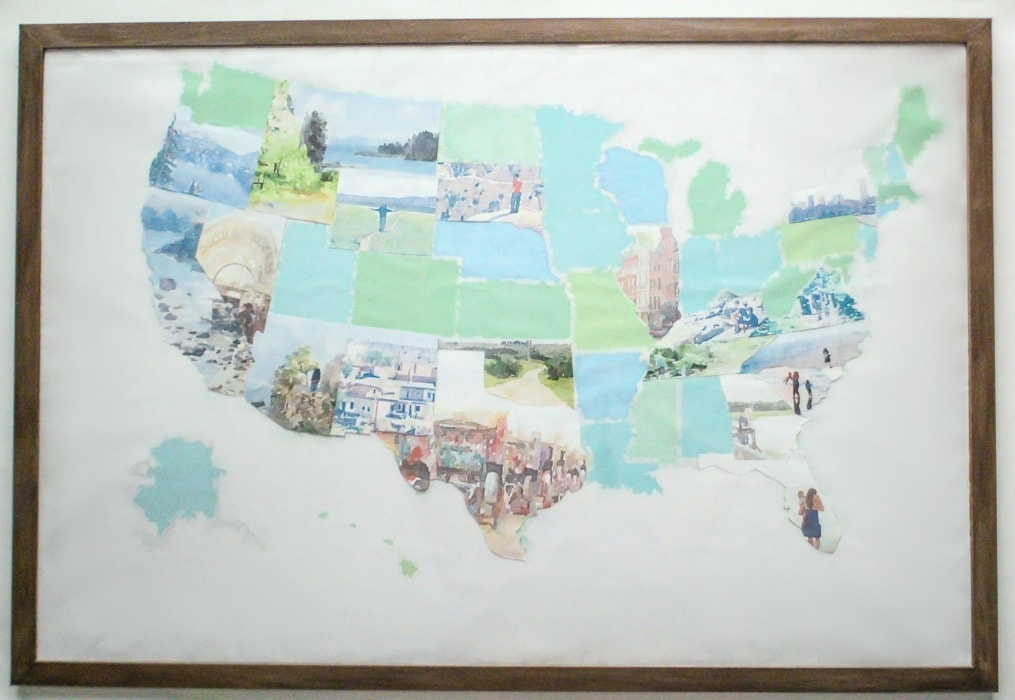 United States Map Picture Frame.How To Make A Personalized Photo Map Lovely Etc