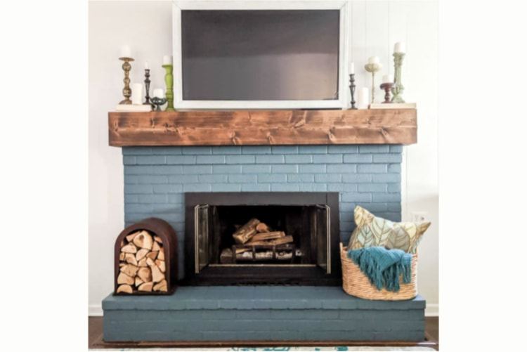 Diy Rustic Fireplace Mantel The Cure, How To Mount A Floating Fireplace Mantel