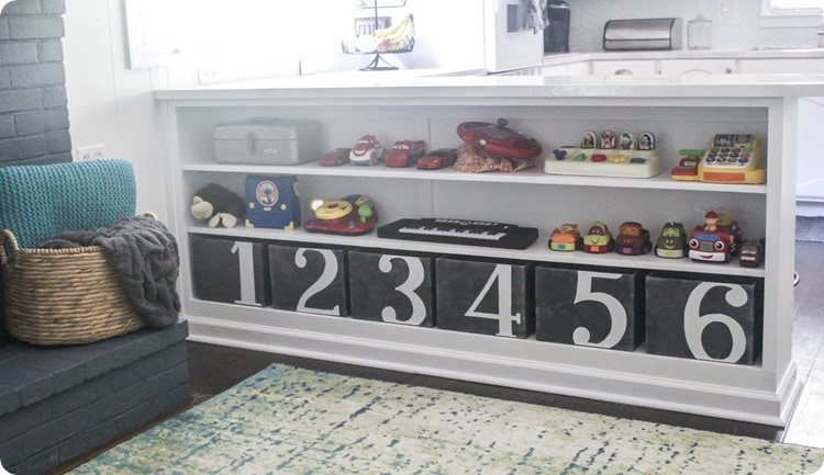 diy numbered toy bins