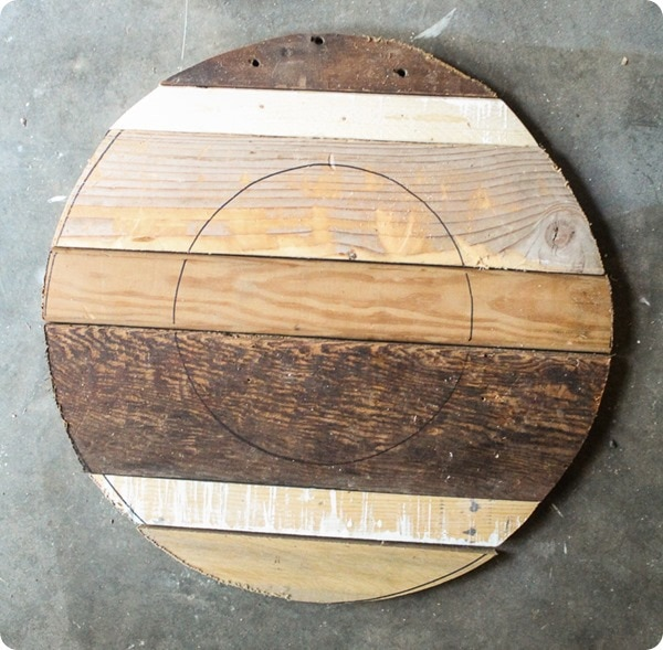 draw inner circle on wood