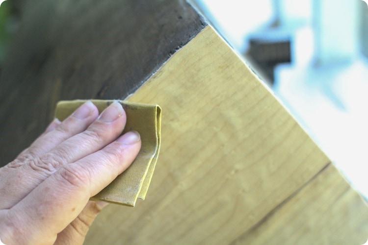 sanding veneer edges