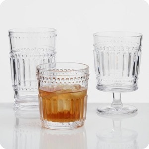 Clear Pressed Glassware Collection