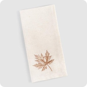 Embroidered Maple Leaf Napkins Set Of 4