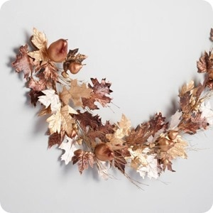 Mixed Metallic Leaves Garland 2