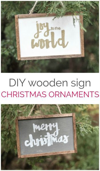 How to make cute farmhouse Christmas ornaments - Lovely Etc