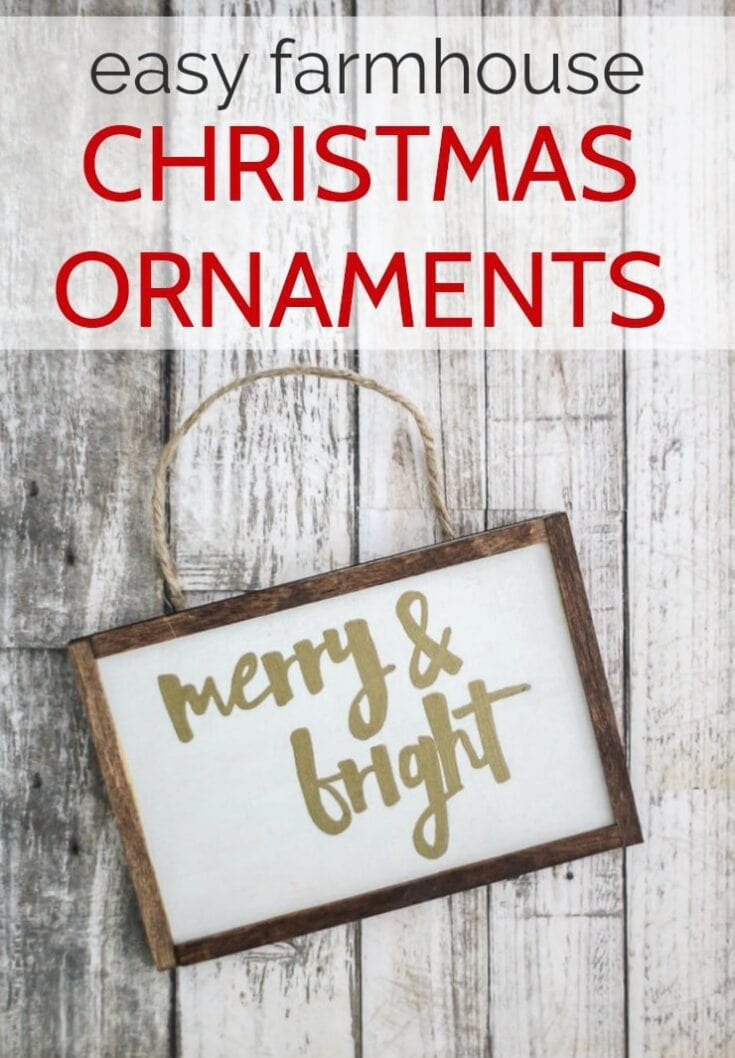 These easy farmhouse Christmas ornaments are some of my favorites! These handmade wooden ornaments are super simple to make and make gorgeous gifts.