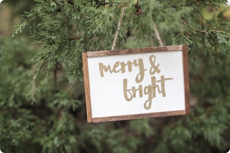 farmhouse style merry and bright ornament
