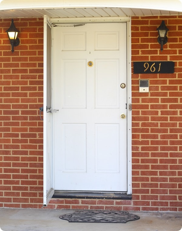 front door before with screen open