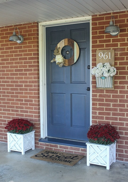 Inexpensive curb appeal for our ugly brick ranch lovely etc for Front door update ideas