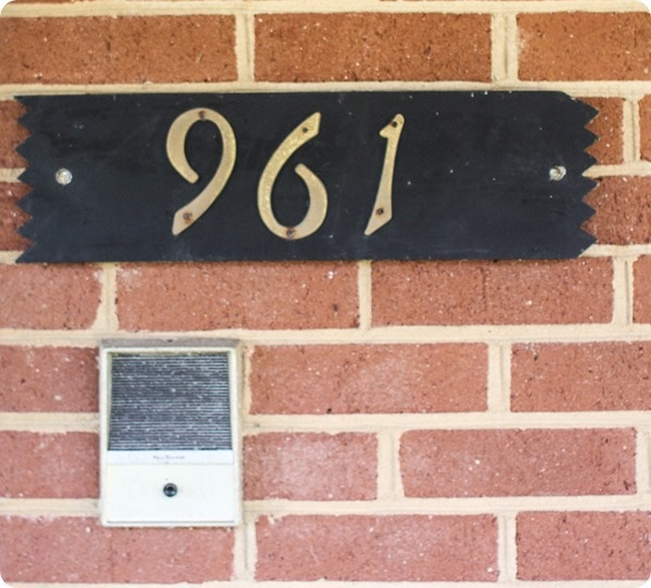intercom on brick