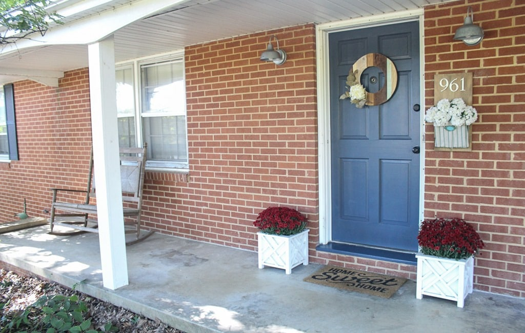 Inexpensive Curb Appeal For Our Ugly Brick Ranch Lovely Etc