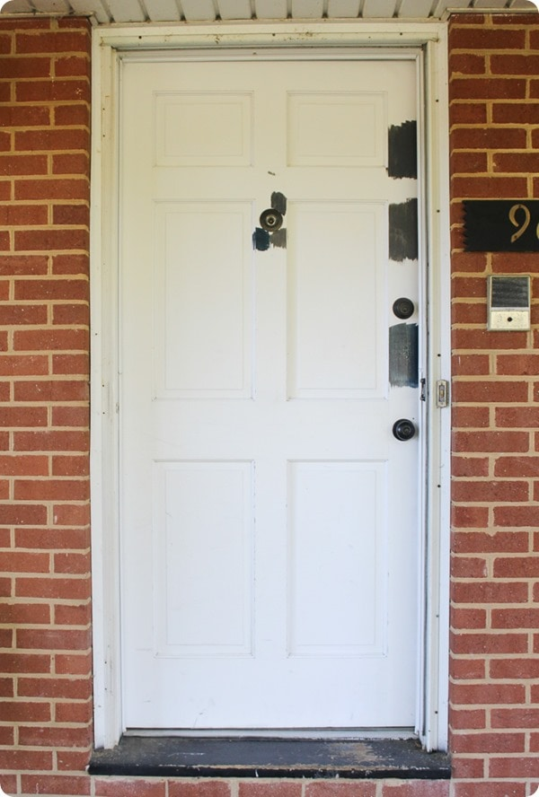 paint samples on door