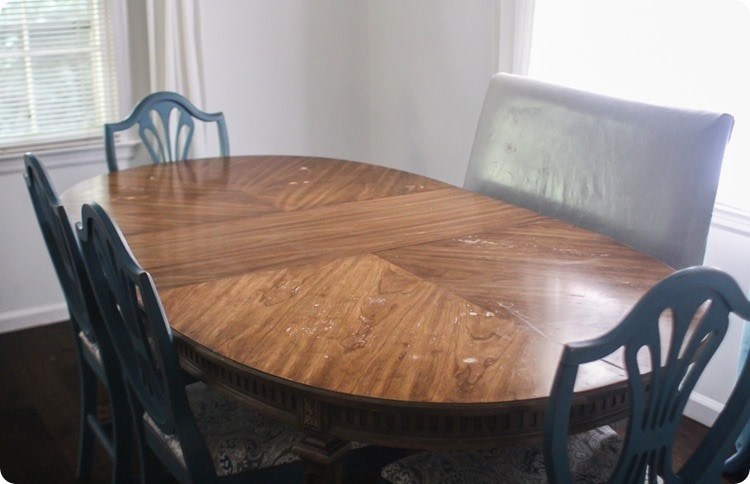 table with beautiful wood grain