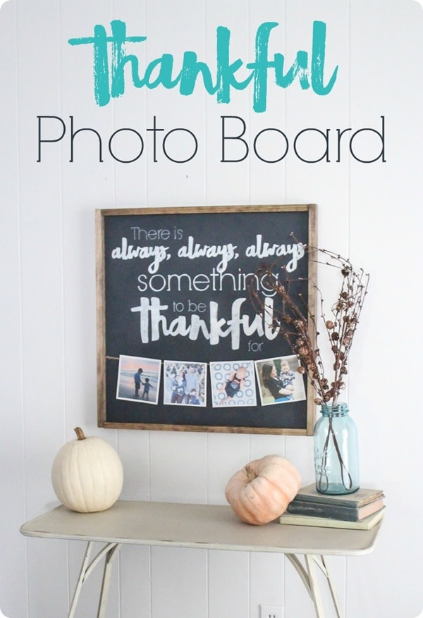 How to make a DIY thankful sign with photos. This thankful photo board is the perfect reminder that there is always something to be thankful for.