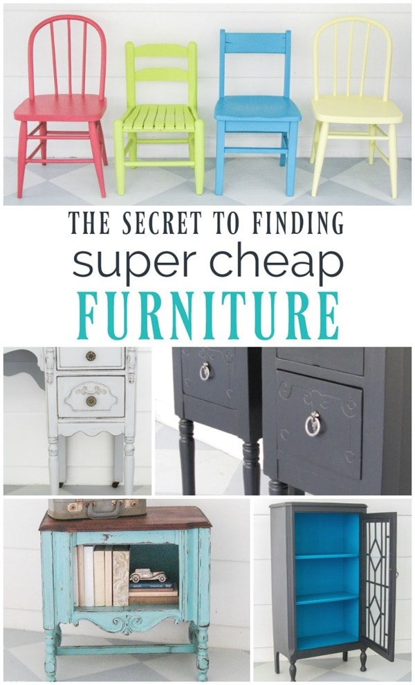 The secret to finding super cheap furniture lovely etc for Where can i find inexpensive furniture