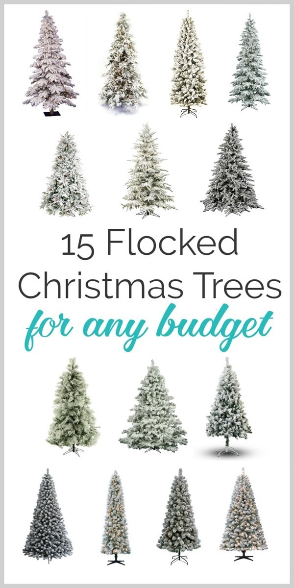 84ead5c0288 15 Gorgeous Flocked Christmas Trees for Any Budget - Lovely Etc.