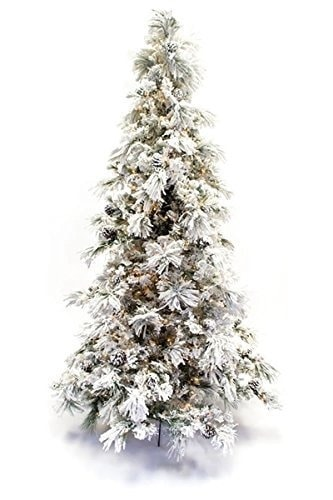 15 Gorgeous Flocked Christmas Trees For Any Budget Lovely Etc