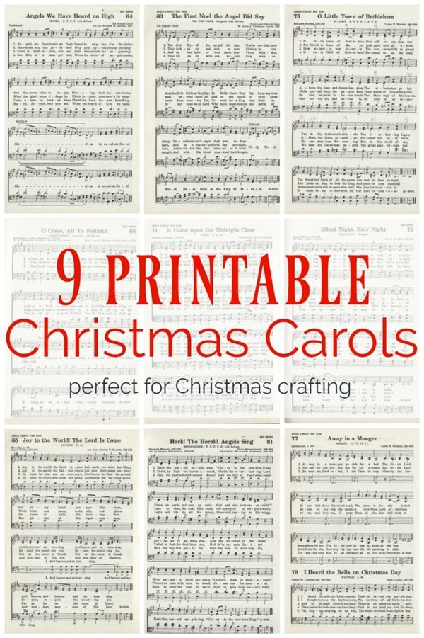 Adorable image throughout printable christmas carols