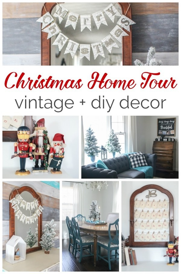 Christmas home tour full of vintage and diy decor, inexpensive christmas decorating ideas anyone can do