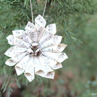 Christmas music ornaments and free printable Christmas carols