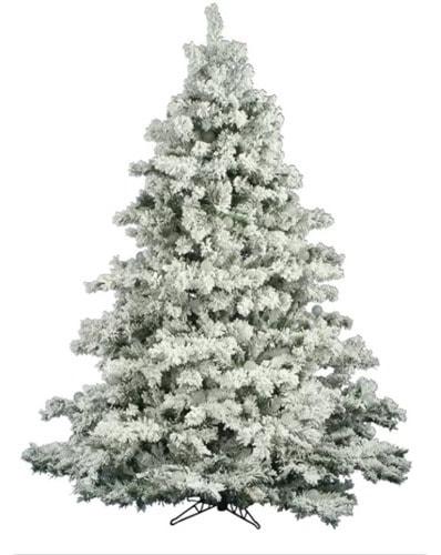 alaskan flocked christmas tree