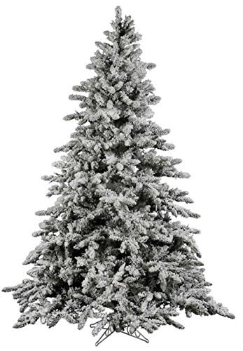 flocked Christmas tree with stand
